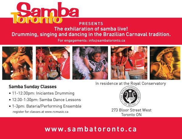 Royal Conservatory of Music - Samba Toronto