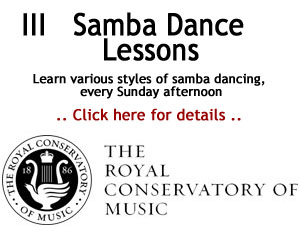 Royal Conservatory of Music Brazilian Samba course
